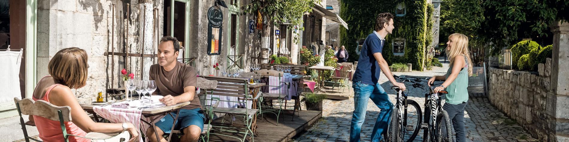 Durbuy - Ruelles - Vélo - restaurant
