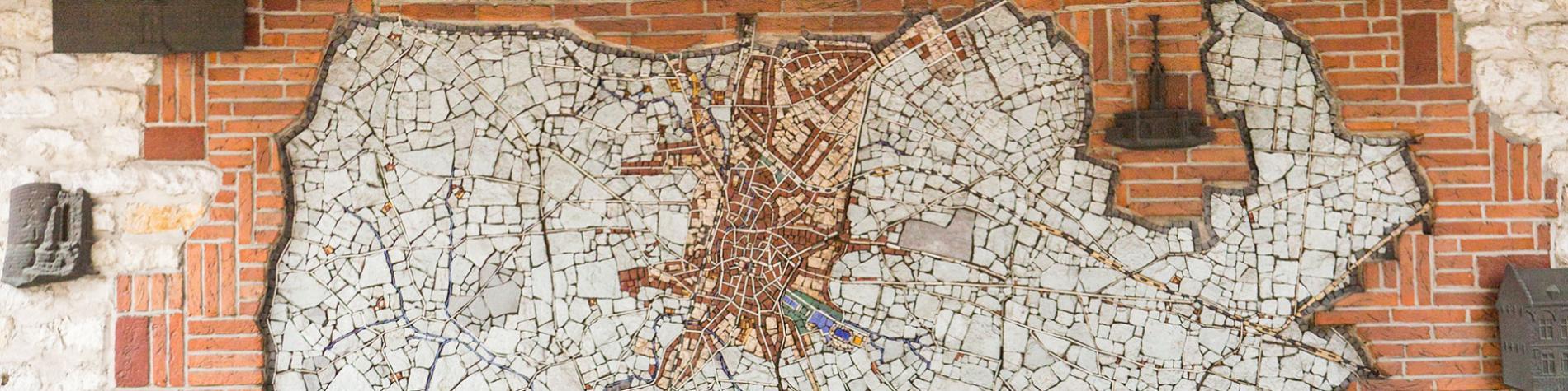 Nivelles - Porte de Saintes - Plan mural