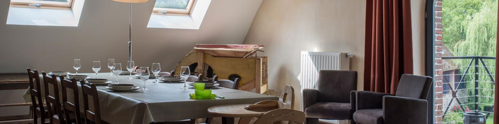 Gîte rural Le Moulin de L'Abbaye - L'Étage - Gesves - Salle à manger