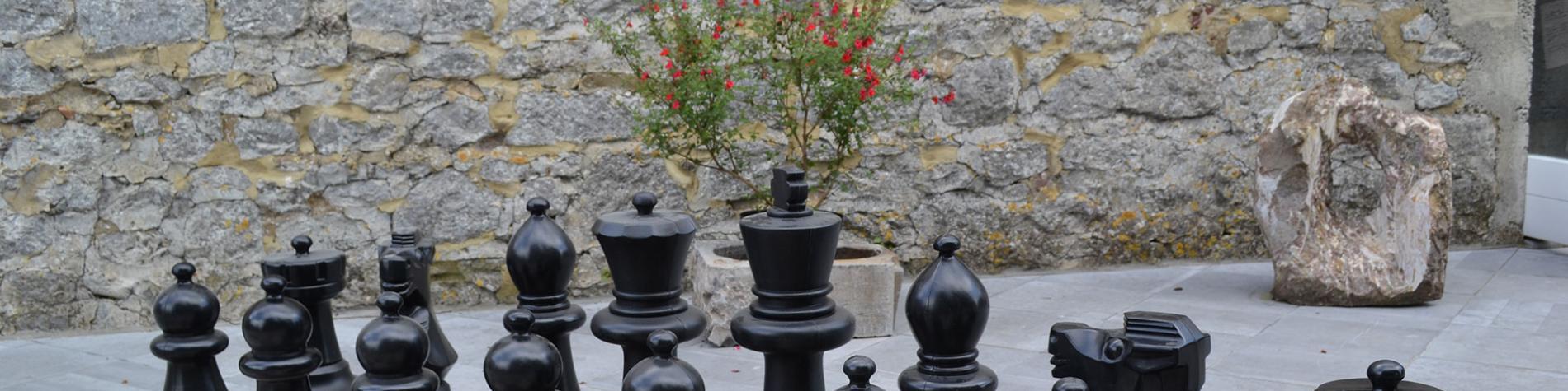 Musée du marbre - Sivry-Rance - Aire de jeux - échecs