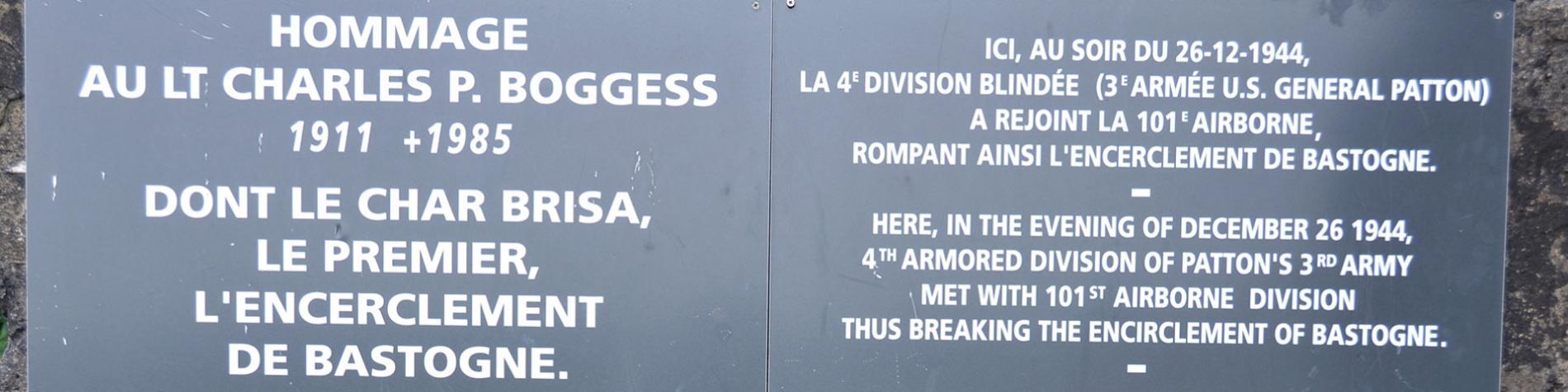Bastogne - fortin Boggess - lieu historique - symbolique - bataille des Ardennes - libération - Seconde Guerre mondiale