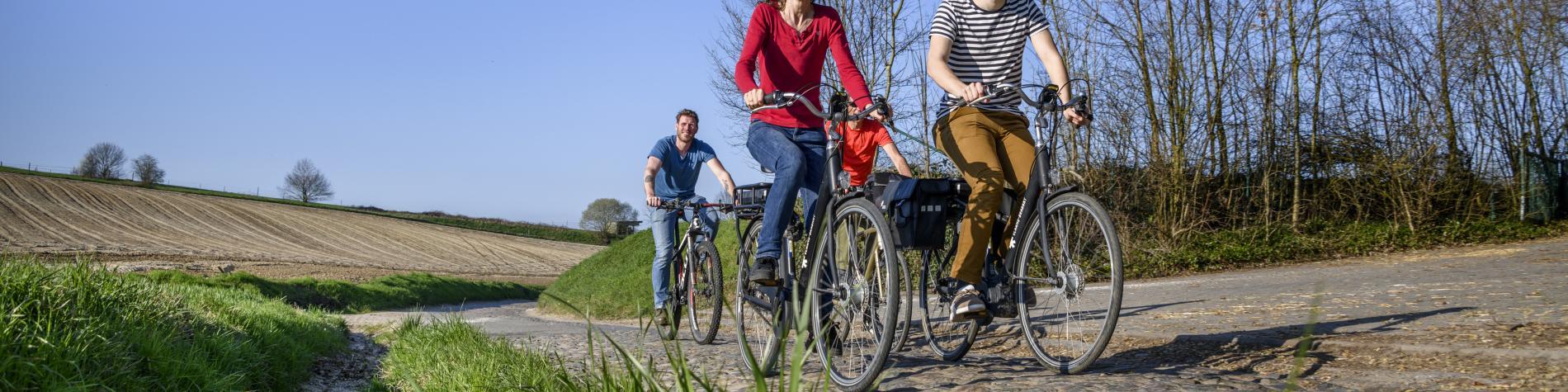 Vue de la Big Bang Route : circuit vélo de Louvain-la-Neuve à Leuven