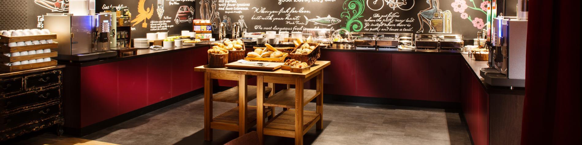 Salle du petit-déjeuner pentahotel Liège