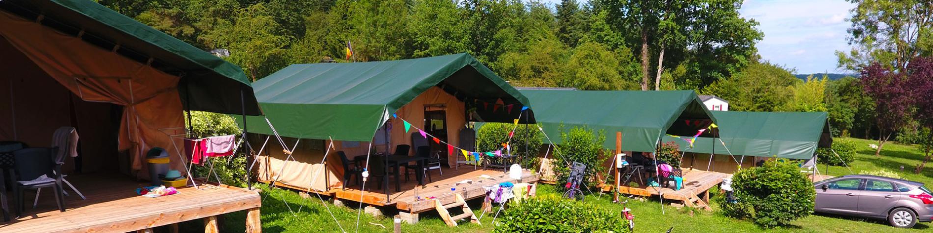 Camping en Wallonie - camp - campement - bivouac - aire touristique - nature - Le Roptai