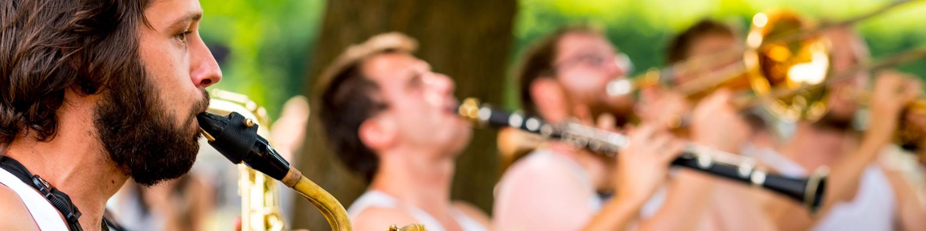 Festival - Jazz - Saxophone - Trompette - parc