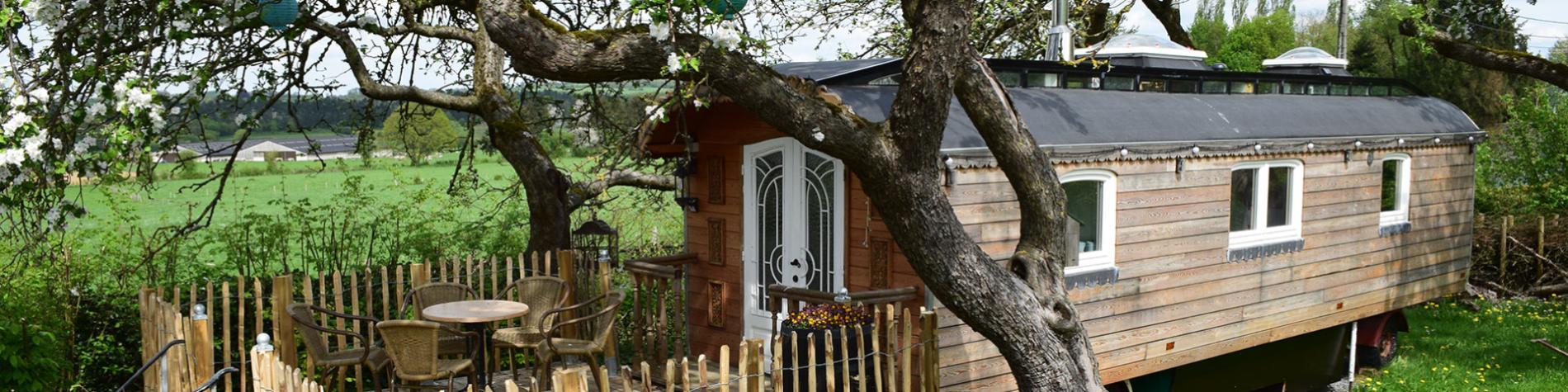 La Roulotte d'Annabelle - mini-maison de vacances - Soy - Erezée