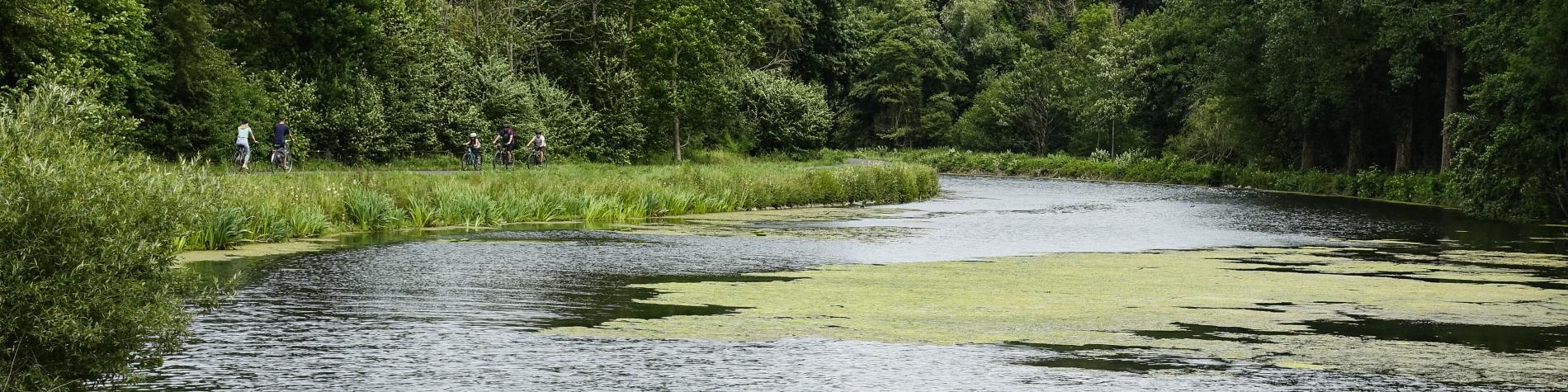 Vélo autour des étangs de Strépy
