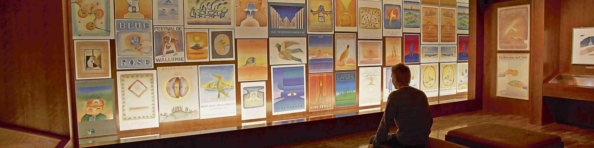 Fondation Folon - Mur - affiches