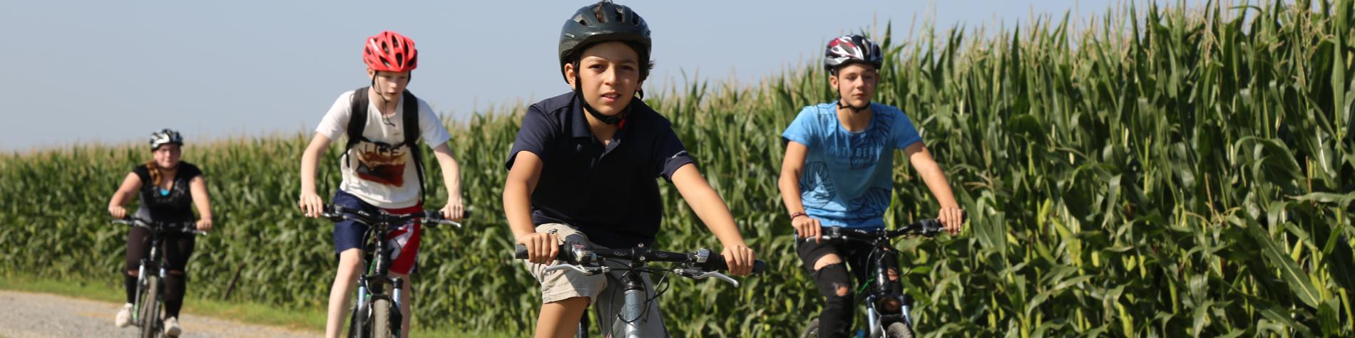 WANT – Wallonie Aventure Nature Tourisme, les enfants en vélo