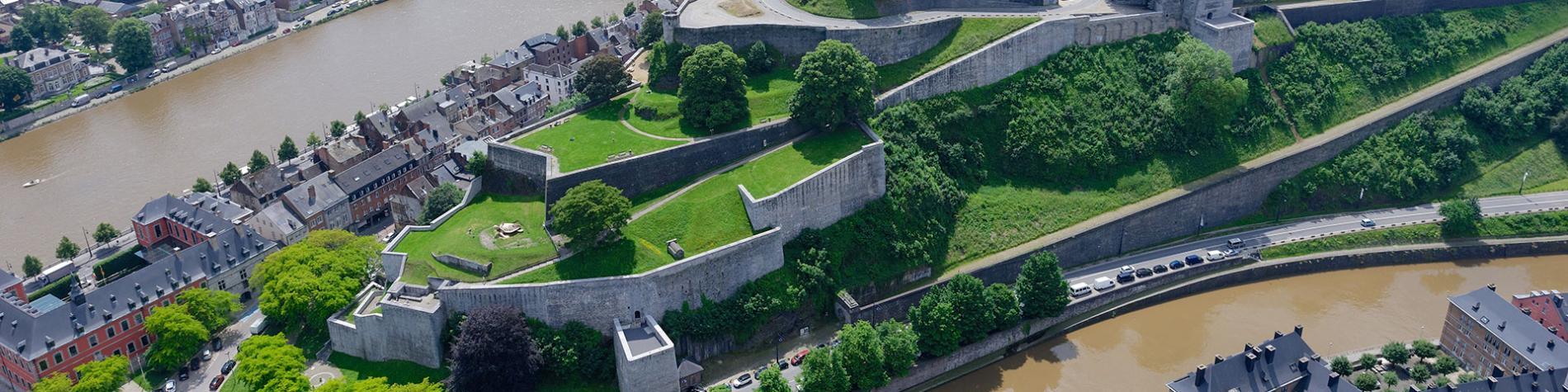 Citadelle - Namur - Photo aérienne - été - Wallonie insolite