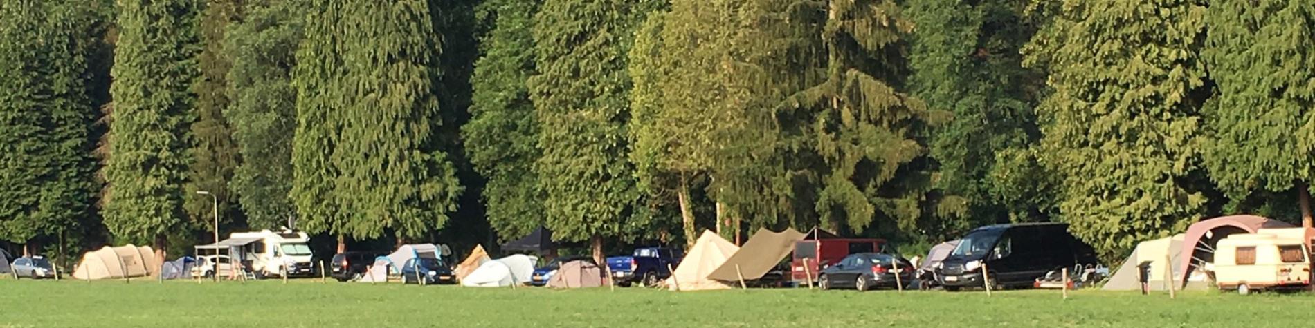 Camping en Wallonie - camp - campement - bivouac - caravane - Glawan