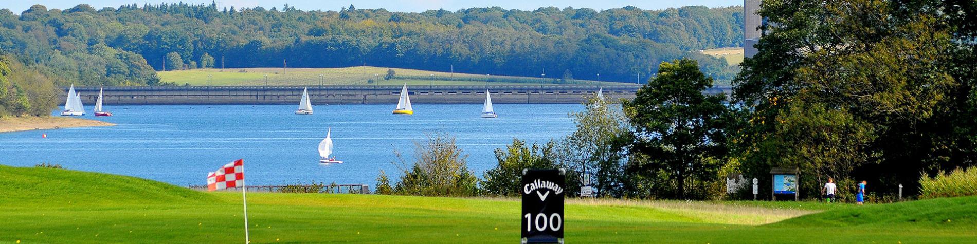 Golf - parcours - green - gazon - lacs