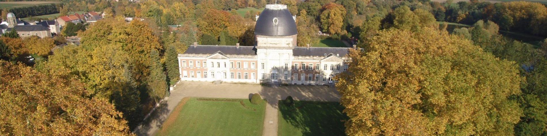 Château d'Hélécine - vue aérienne