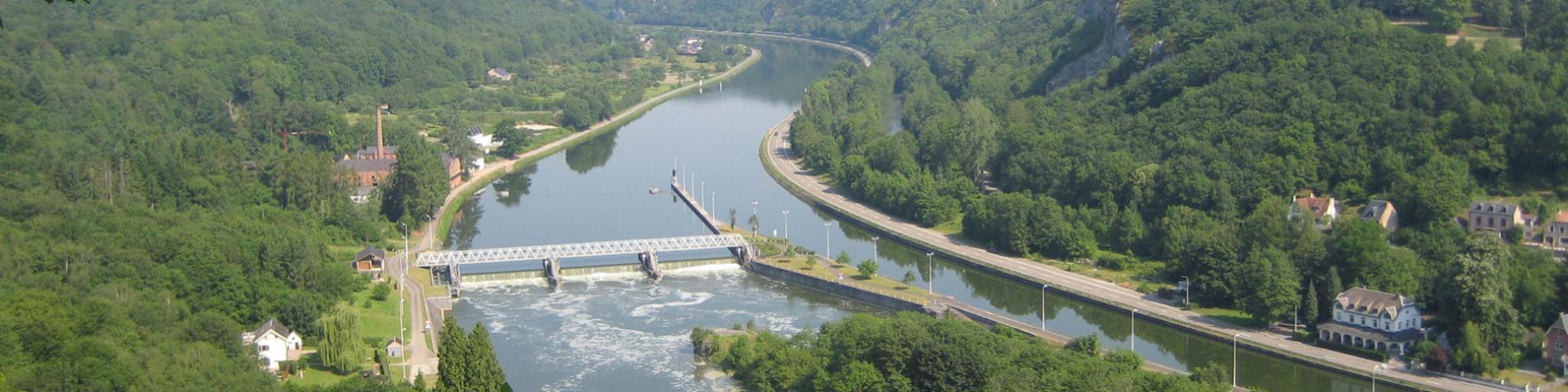 Hastière - Waulsort - Barrage panorama - Belvedere