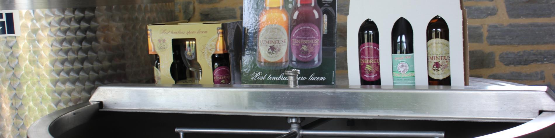 Microbrasserie Hostieux Moines de l'Abbaye de Villers - Cuve et bières