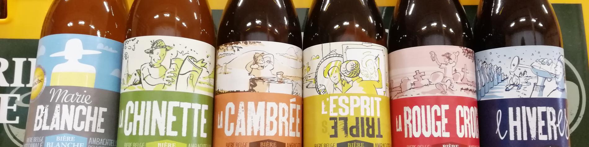 Vue des bières de la Brasserie de la Lesse - Eprave