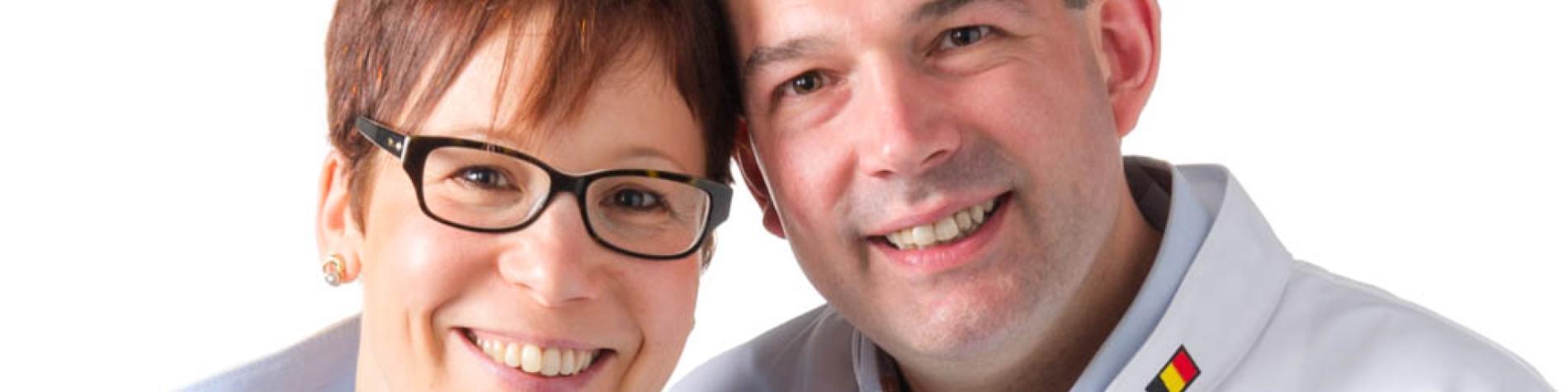 Les Lutins Glacier à Anthée, Denis Kairet et son épouse