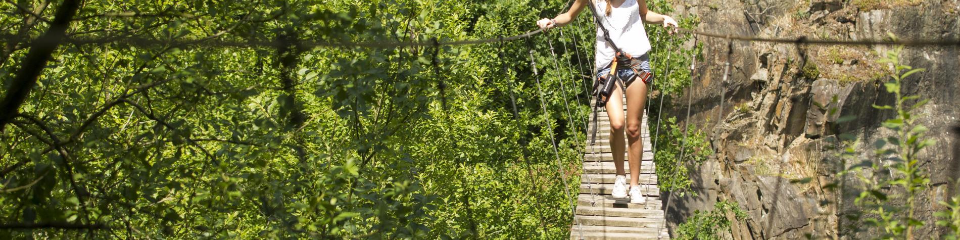 WANT Wallonie Aventure Nature Tourisme, le pont suspendu
