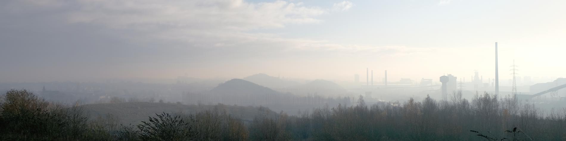 vue sur paysage industriel à Charleroi