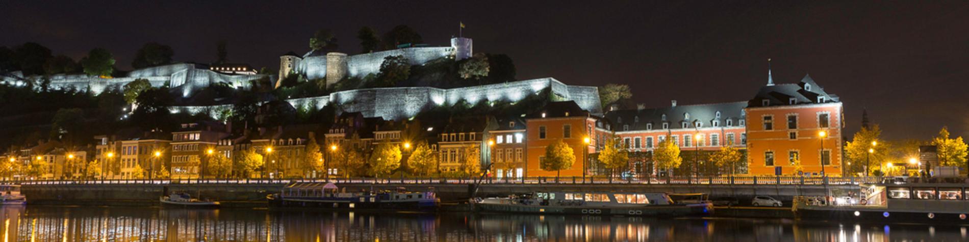 Citadelle - Namur - nuit - lumière