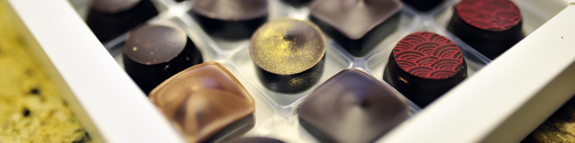 Chocolaterie Druart à Angreau - Pralines