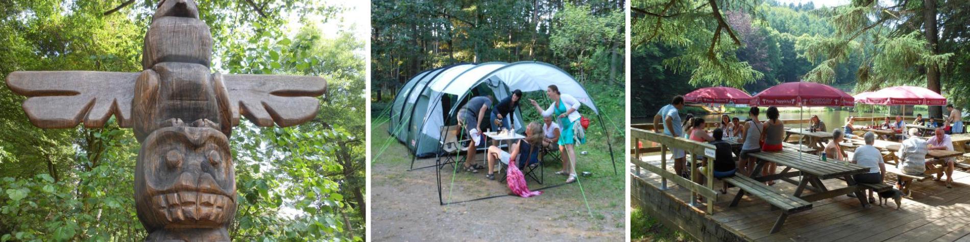 Camping Le Canada, Chiny-sur-Semois - vallée de la Semois - forêt - promeneurs - descente en kayak - famille