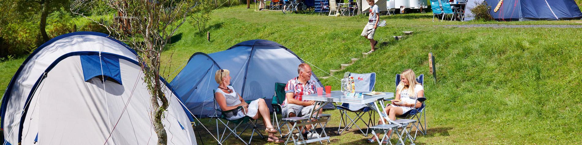 Ardennen Camping Bertrix - tante - pelouse