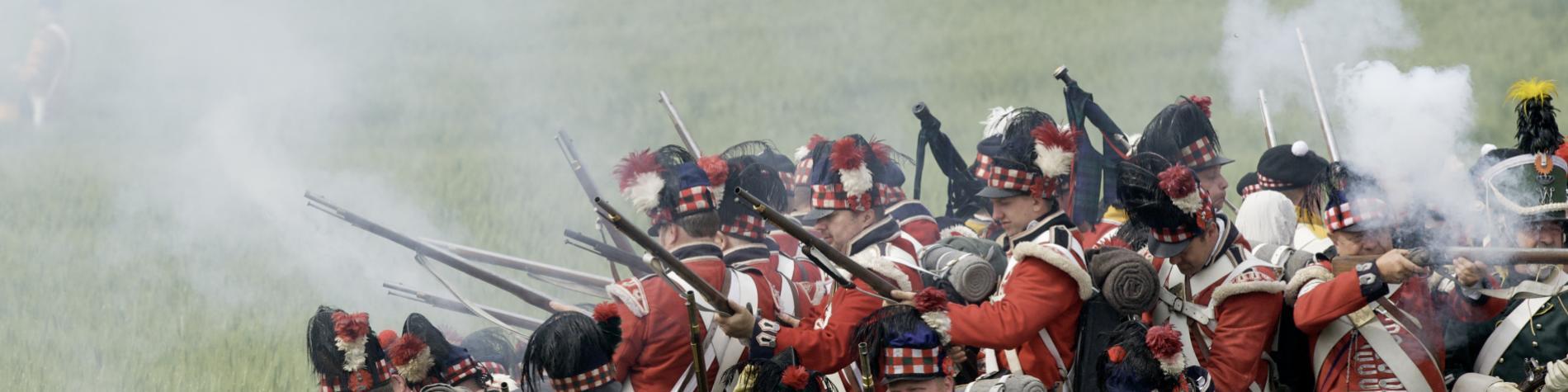 Commémoration - Bataille - Waterloo - reconstitution