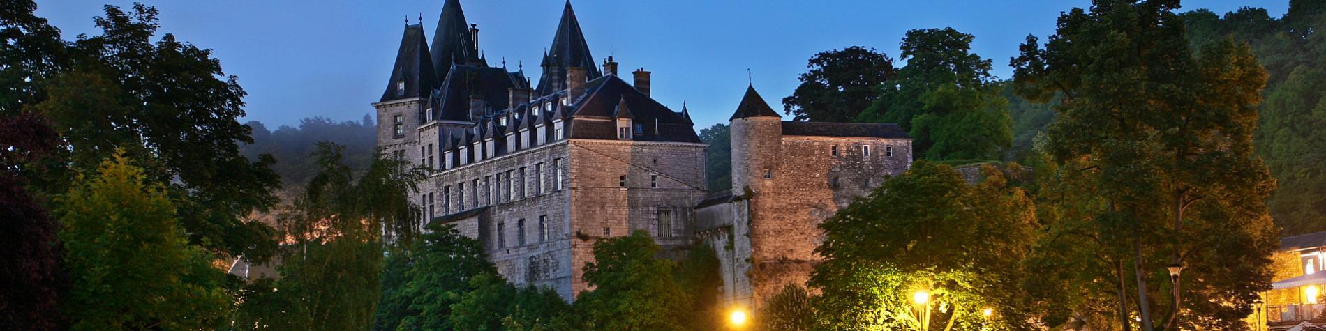 Château - Durbuy - nuit - éclairage