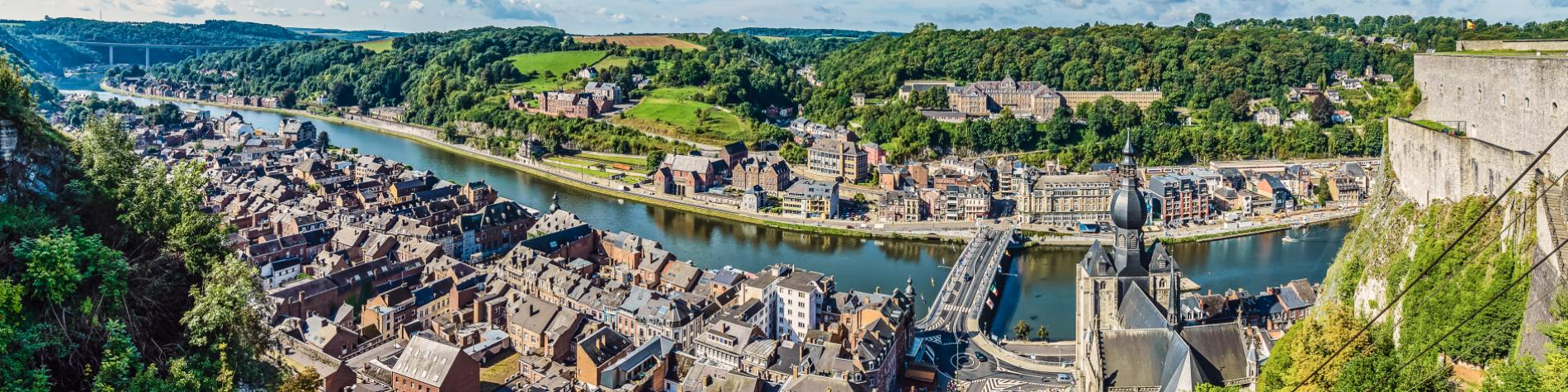 Dinant - Panorama - Ville - Citadelle - Collégiale