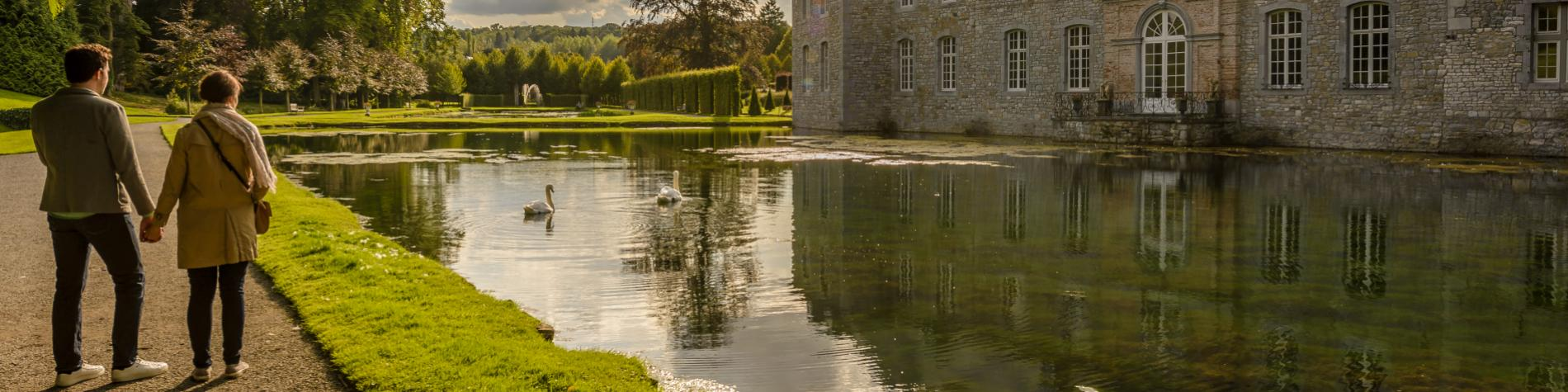 Flanieren Sie durch die Gärten des Schlosses von Annevoie