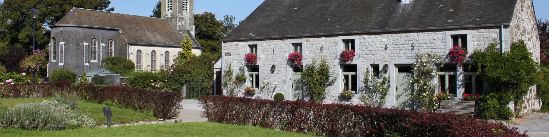 Vue sur Sohier, un des plus beaux villages de Wallonie à Saint-Hubert