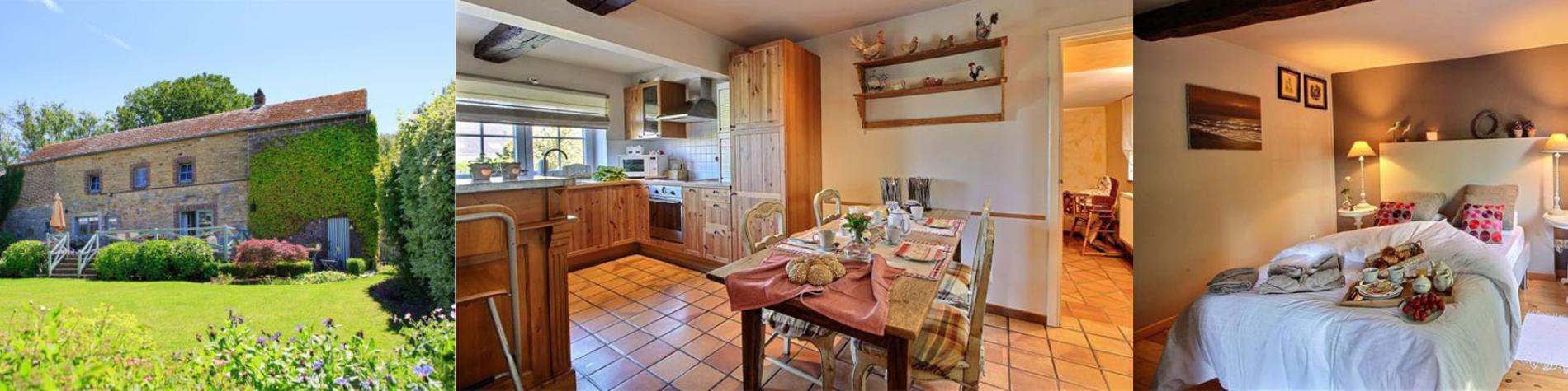 Le Charme du Passé - Gîte rural - Havelange - Cuisine équipée - Salon avec TV - Wifi