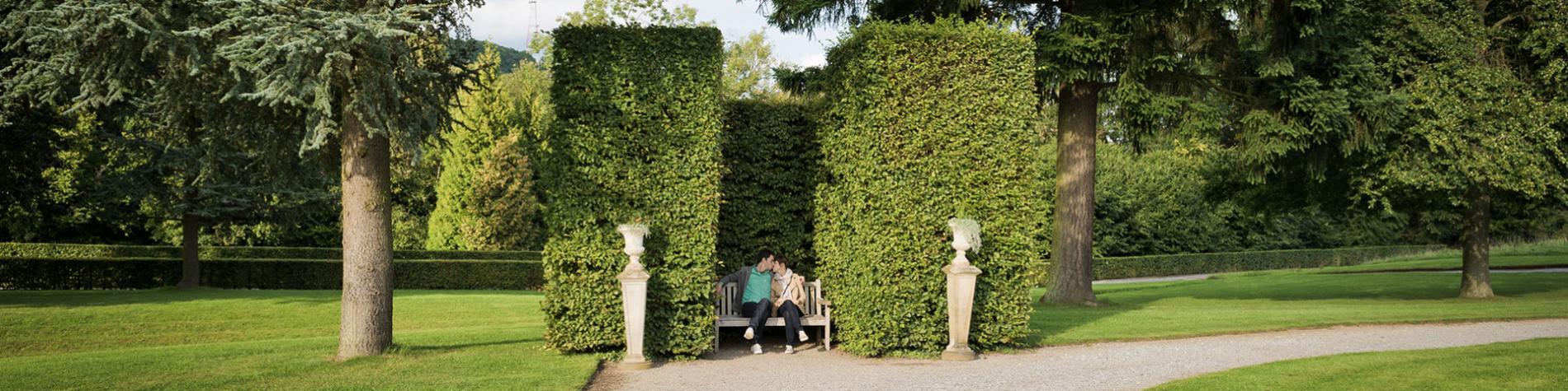 Jardins d'Annevoie - promenade - couple