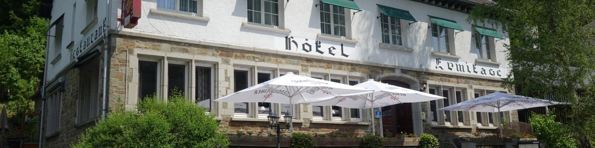 Discover L'Hermitage, a hotel restaurant in Houffalize, with its Bistrot des Saveurs restaurant