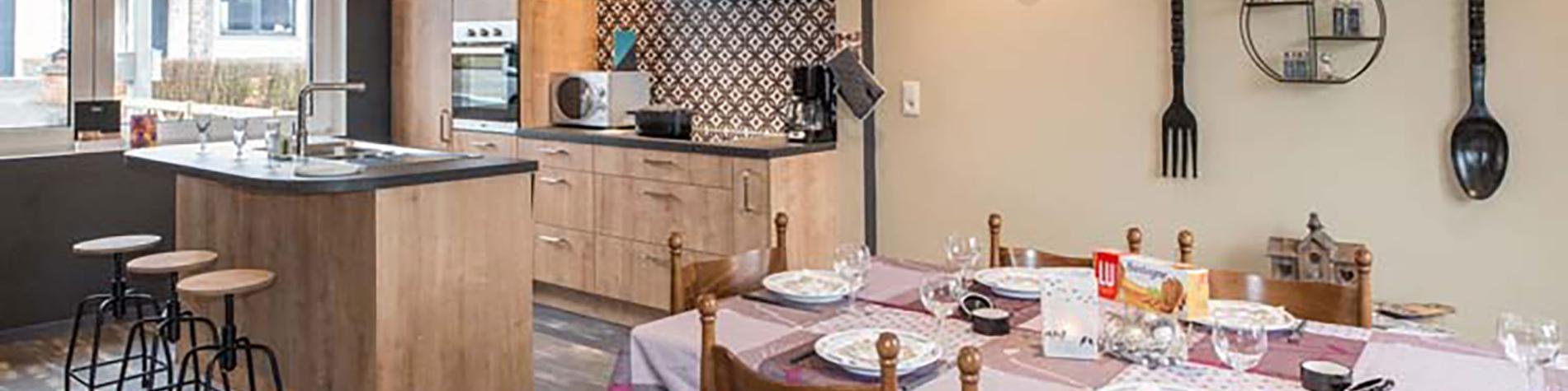 Carpe Diem - Gîte citadin - Bastogne - cuisine ouverte