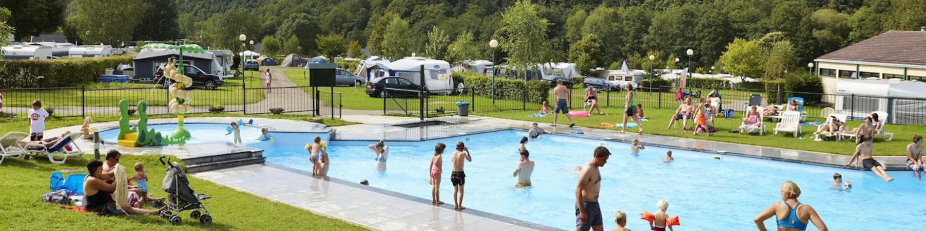 Camping - Spa d'Or - Sart - Emplacements spacieux - Magasin - Animations - Piscine chauffée - Bar - restaurant - motorhomes - 26 tentes - caravanes - chalets-bungalows