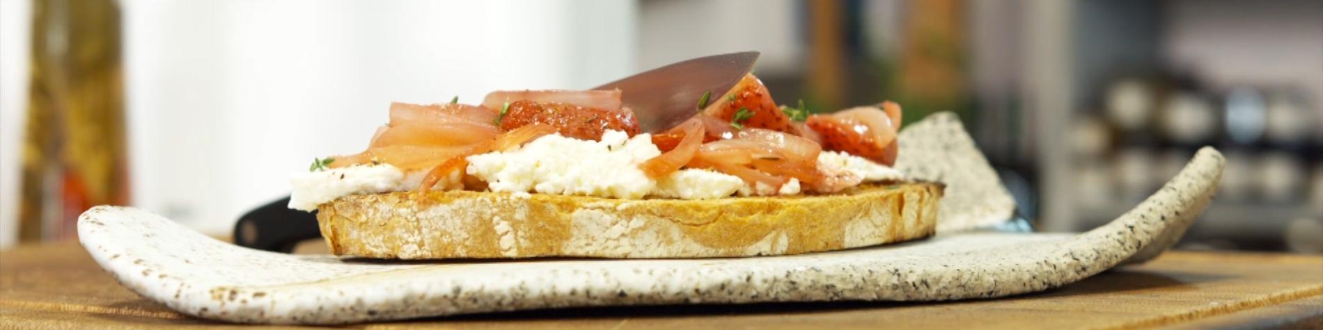 Recettes - cuisine - Julien Lapraille - toast - fraises - gerpinnes