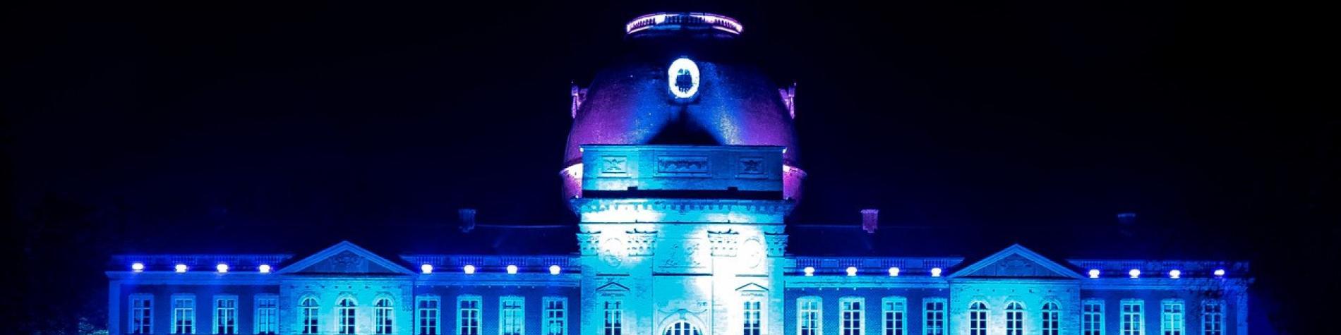 Château d'Hélécine - vue extérieure nuit