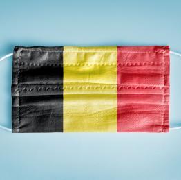 COVID-19 - masque - drapeau Belge