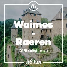 Vue sur le château de Reinhardstein