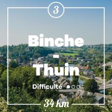 Point de vue aérien sur Thuin
