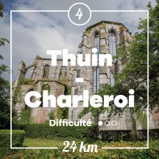 Vue sur l'abbaye d'Aulne