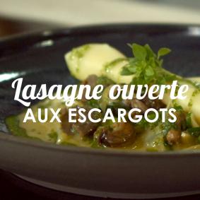 Lasagne ouverte aux escargots