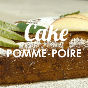 Recette de cuisine - Cake pomme-poire