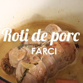Recette de cuisine - Rôti de porc