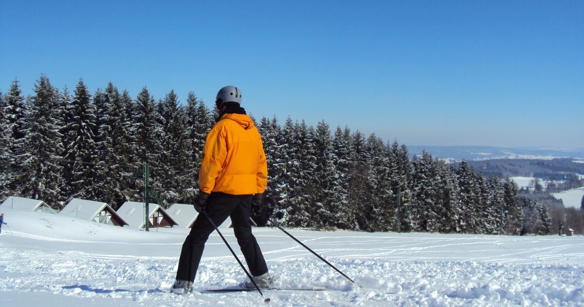 Baraque De Fraiture Ski Slope Wallonia Belgium Tourism