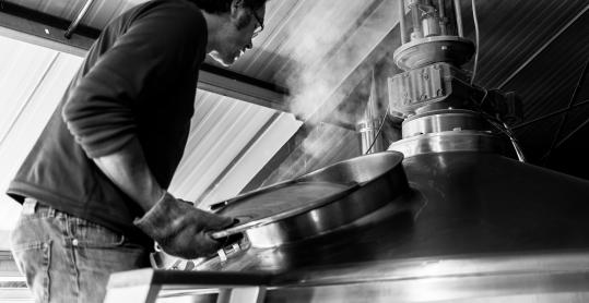 Brasserie artisanale de la Rulles - Vue d'une cuve de production