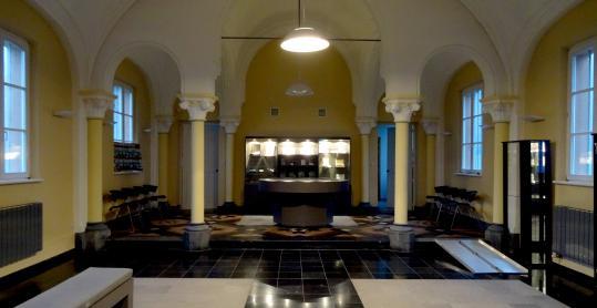 Hall d'entrée du Centre de visite d'Attert - ancien relais postal de 1753