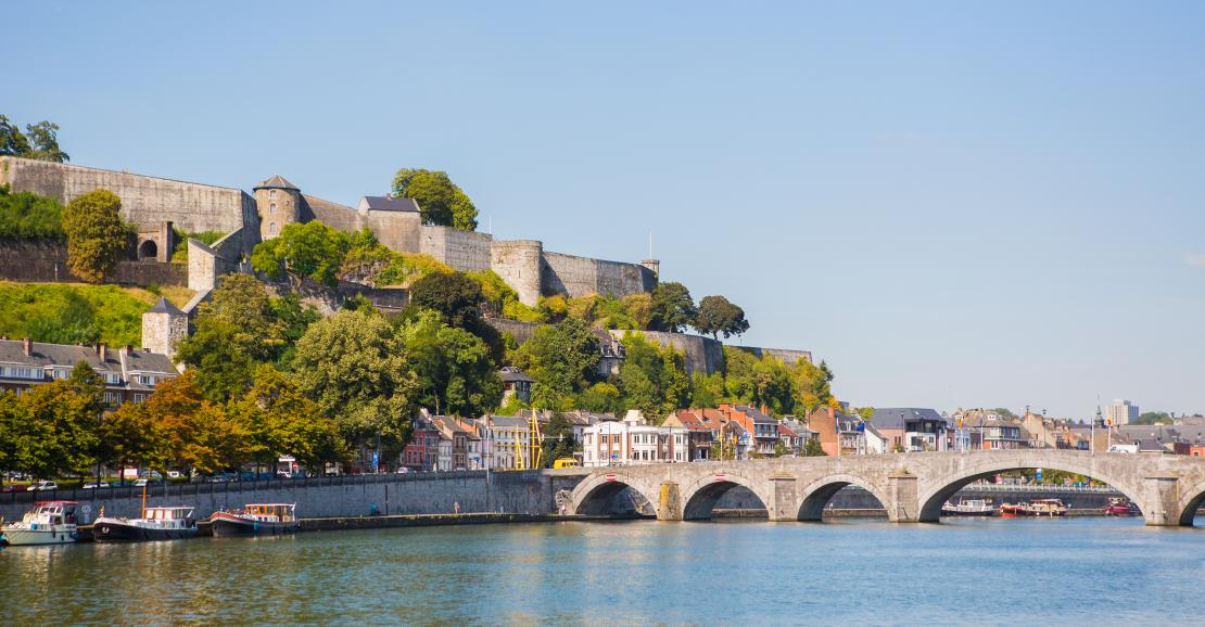 View on the citadel of Namur